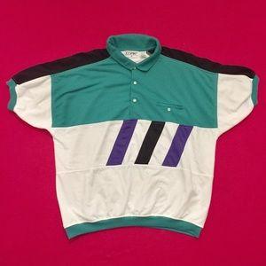 Vintage 90's Color Blocked IISport Polo Shirt